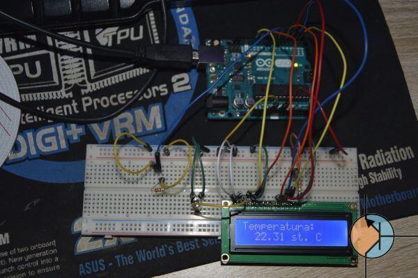 Arduino - Termometr DS18B20 z wyświetlaniem wartości na LCD
