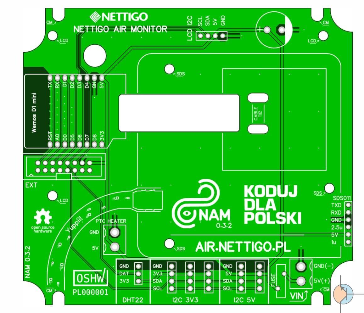 Nettigo Air Monitor PCB