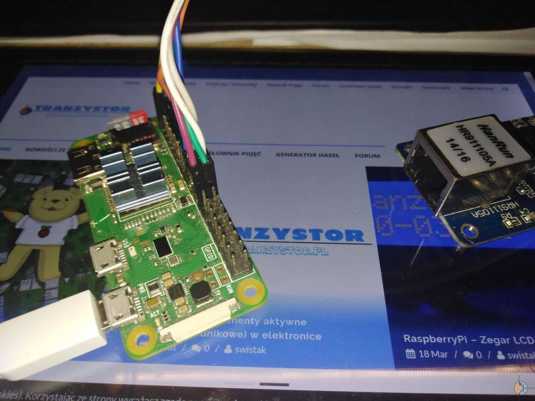 RaspberryPi Zero – Obsługa Ethernet ENC28J60