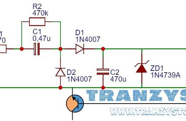 Zasilacz beztransformatorowy – 230V AC do 9V DC