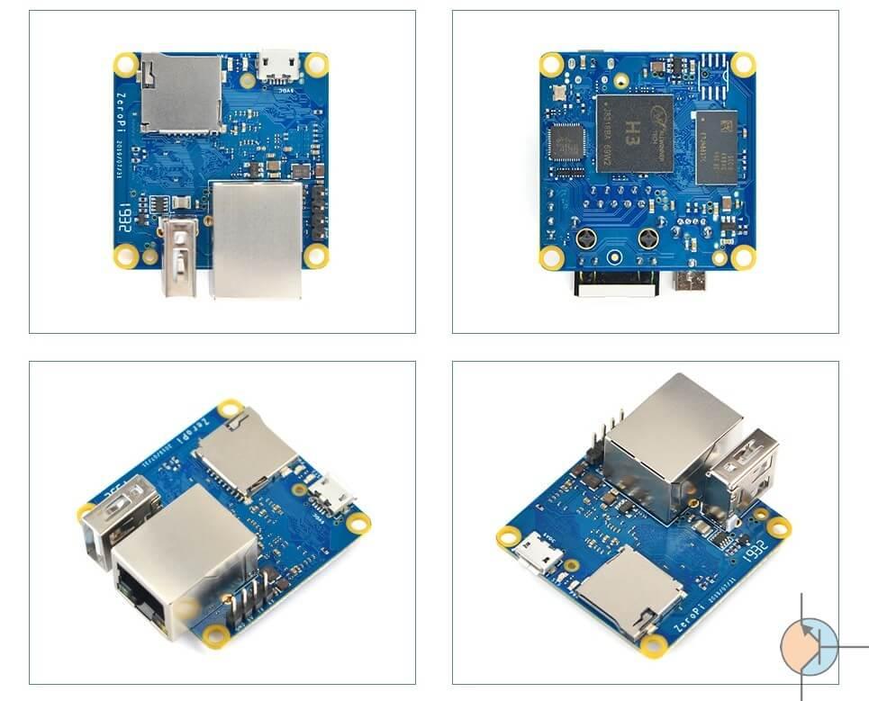 NanoPi ZeroPi z Allwinner H3 SBC oraz Gigabit Ethernet i USB