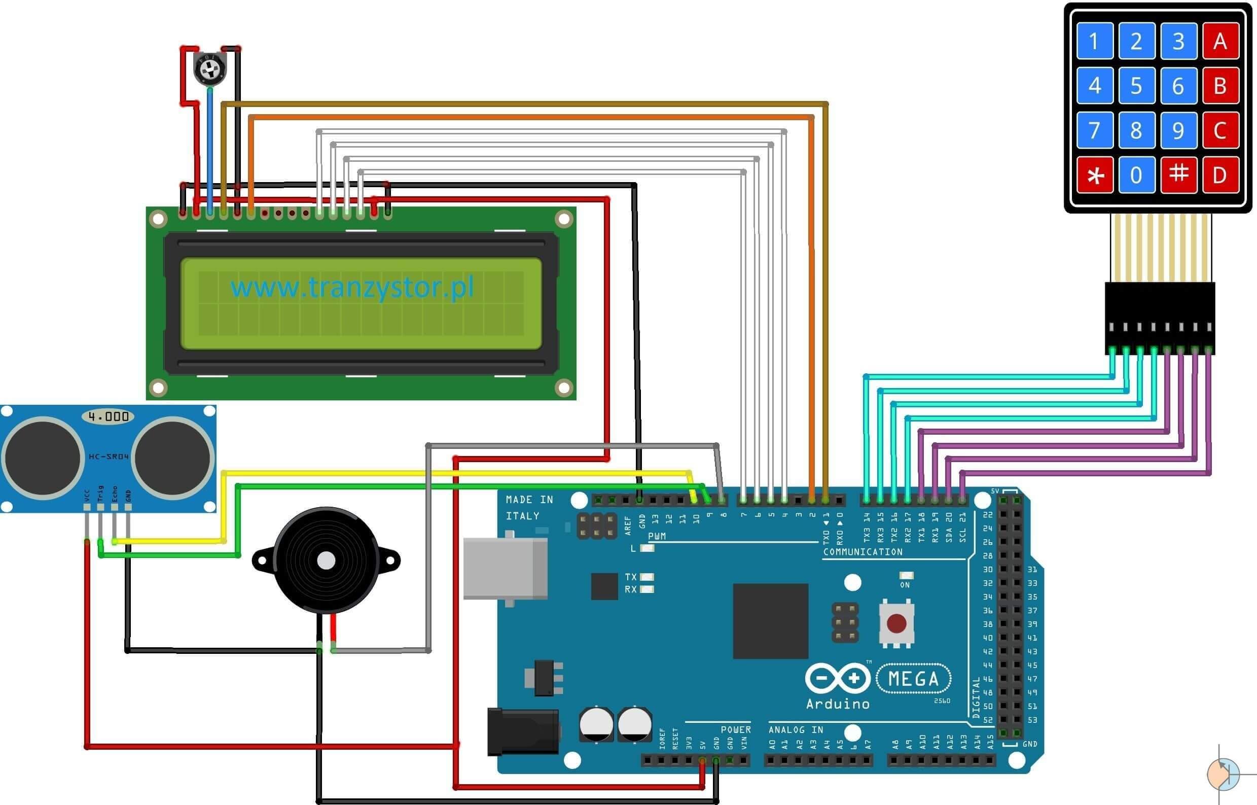Arduino mini system alarmowy hc sr tranzystor pl