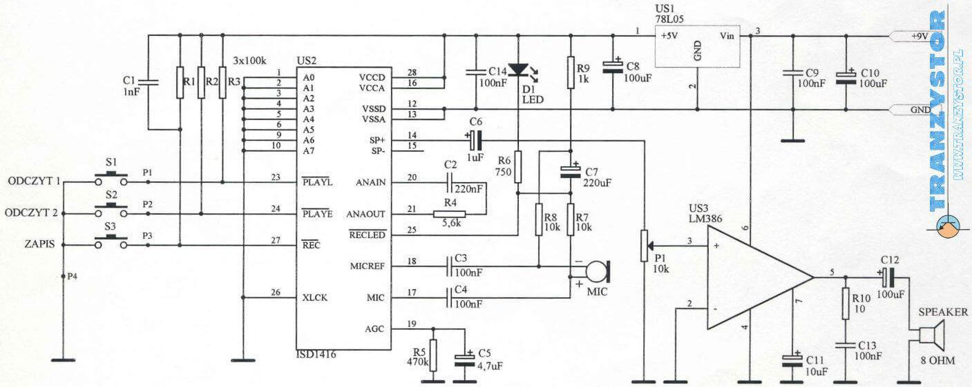 magnetofon cyfrowy układ do montażu