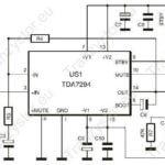 Wzmacniacz stereofoniczny 2x100W – TDA7294