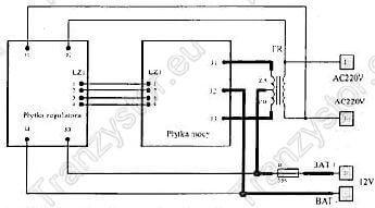 Schemat podłączeniowy transformatora