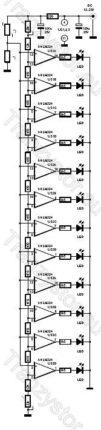 Termometr cyfrowy na 12-stu diodach LED