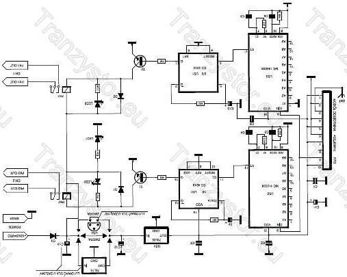 2-kanałowe zdalne sterowanie radiowe schemat odbiornika