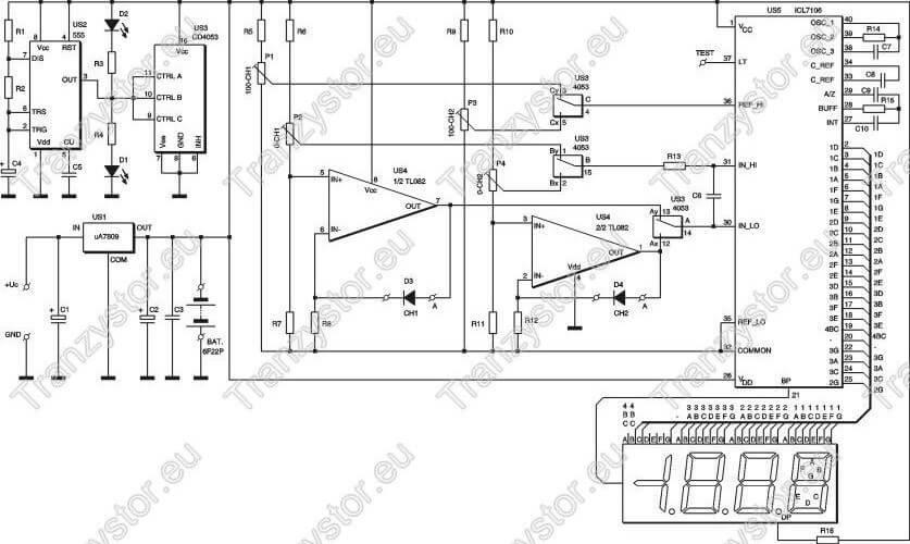 Dwupunktowy termometr -20/+120°C na wyświetlaczu LCD