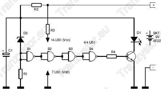 Energooszczędny migacz diod LED