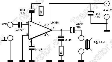 wzmacniacz akustyczny na LM386