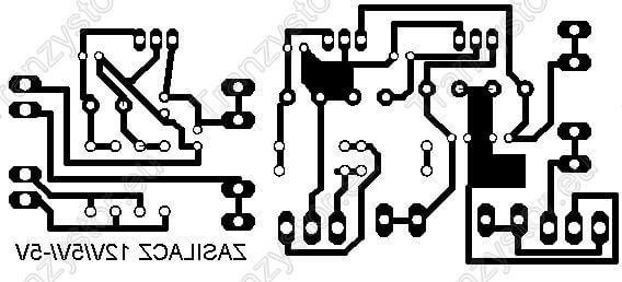 Zasilacz Stabilizowany +/-5V i 12V wzór płytki