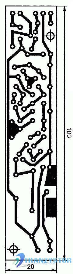 Wykrywacz metali tranzystorowy schemat płytki