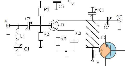 Wzmacniacz 100mW dla pasma 433MHz