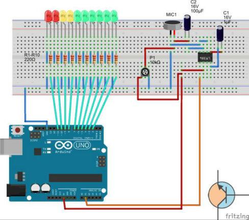 arduino - VU Meter 10 LED