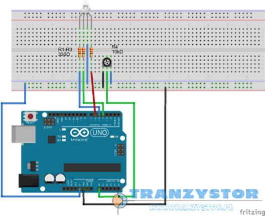Arduino - Sterowanie diodą RGB