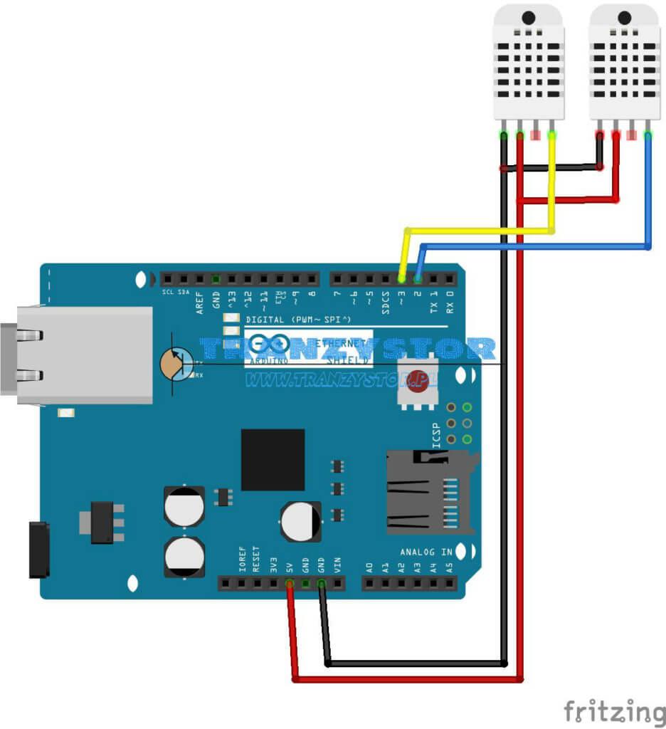 DTH22 termometr LAN v2