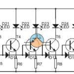 Wskaźnik poziomu mocy do instalacji w kolumnie głośnikowej