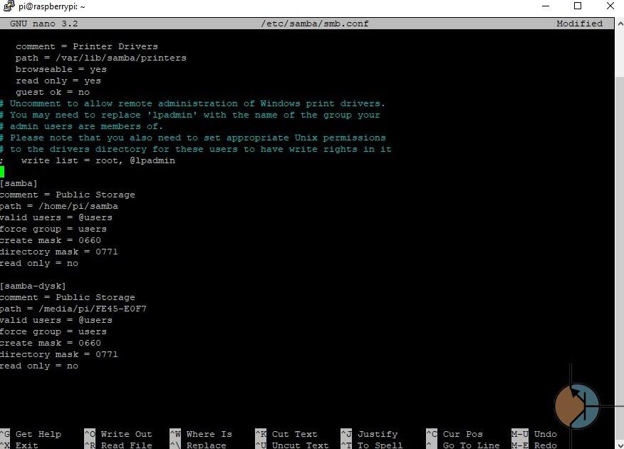 debian samba podstawowa konfiguracja