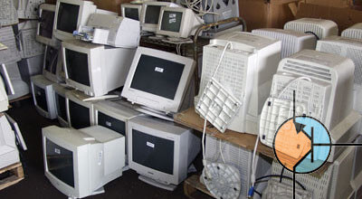 elektro złom monitory CRT