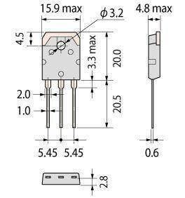 GT50JR21 wymiary tranzystora