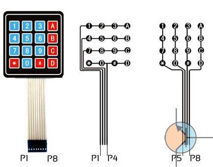 klawiatura membranowa 4 na 4