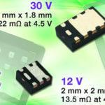 Miniaturowe MOSFETy o rezystancji kanału od 13,5 mΩ / 4,5 V