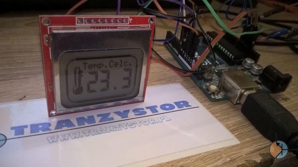 termometr DB18B20 LCD Nokia 5110 gotowy