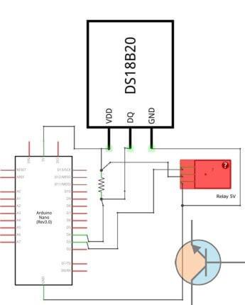 termostat arduino schemat ideowy